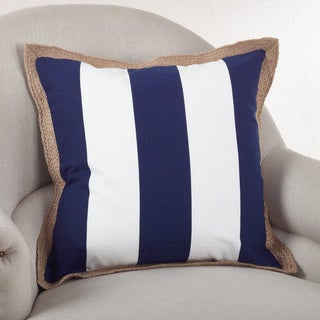 Striped 20-inch Down Filled Throw Pillow