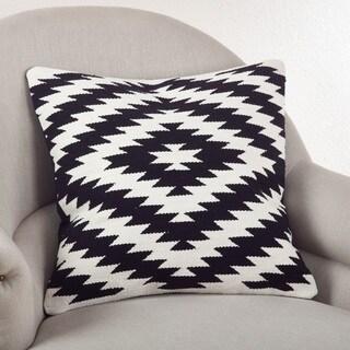 Kilim Design 20-inch Down Filled Throw Pillow (Options: White, Black)