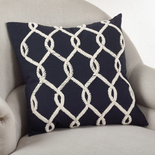 Embroidered Cord Down Filled Throw Pillow
