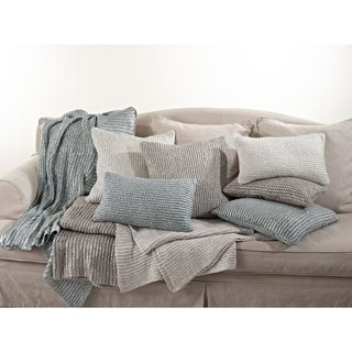 Link to Cassandra Collection Knitted Design Pillow Similar Items in Decorative Accessories