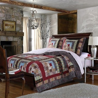 Greenland Home Fashions Colorado Lodge Authentic Patchwork Cotton Quilt Set