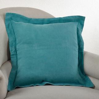 Flanged Linen Down Filled Throw Pillow