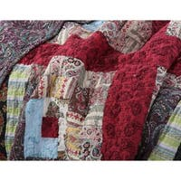 Greenland Home Fashions  Colorado Lodge Authentic Patchwork Quilt Bonus Set