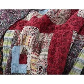 Greenland Home Fashions Colorado Lodge Authentic Patchwork Quilt Bonus Set