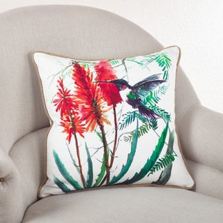 Hummingbird Down Filled Throw Pillow