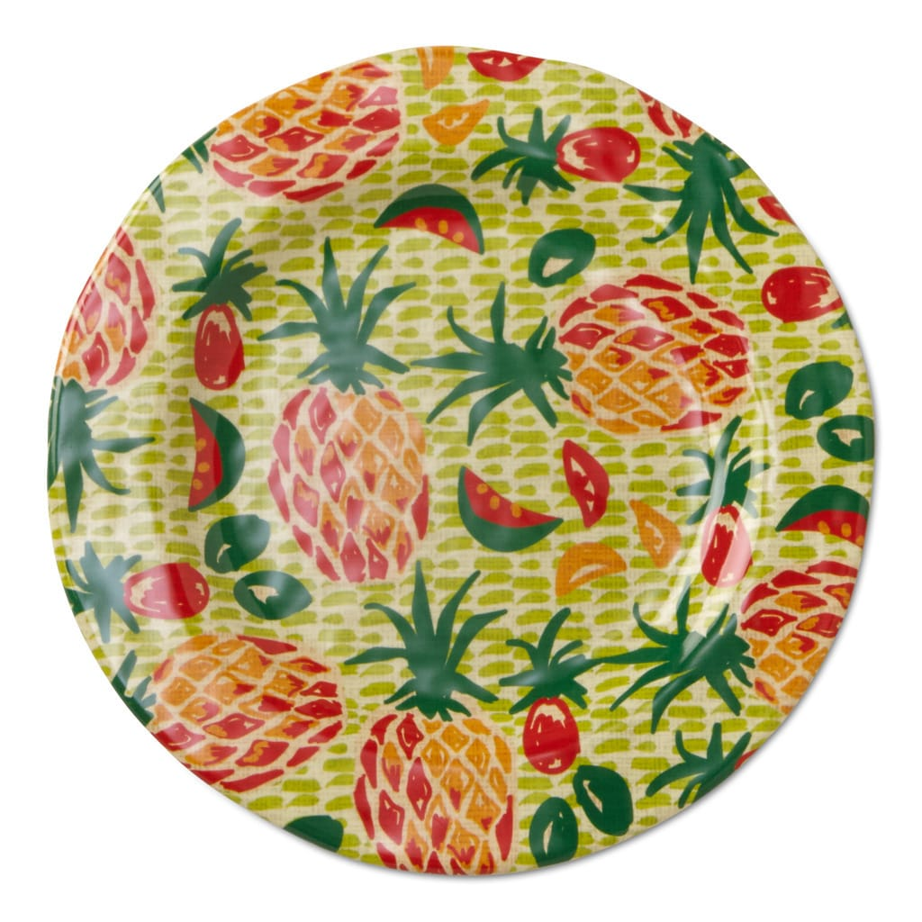 TAG Melamine Tropical Salad Plates Green