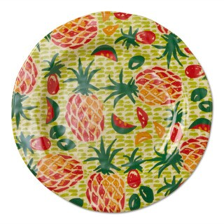TAG Melamine Tropical Salad Plates Green