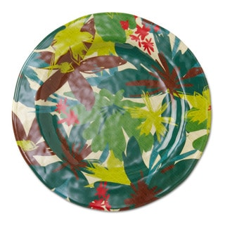 TAG Melamine Tropical Dinner Plates Green