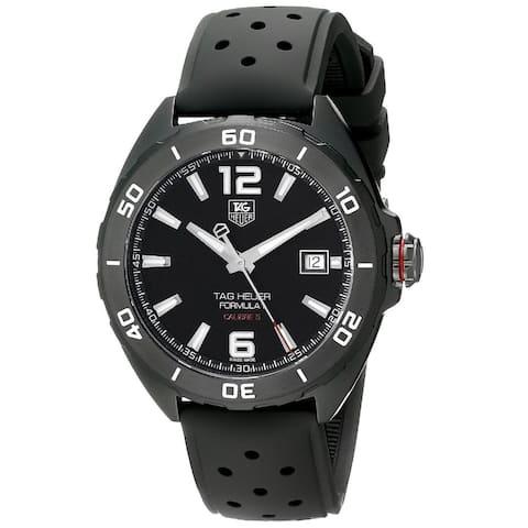 Tag Heuer Men's WAZ2115.FT8023 'Formula 1' Automatic Black Rubber Watch
