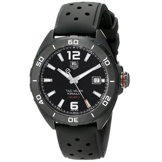 Link to Tag Heuer Men's WAZ2115.FT8023 'Formula 1' Automatic Black Rubber Watch Similar Items in Men's Watches