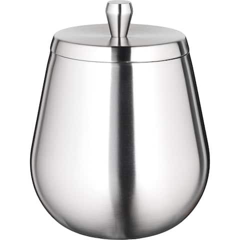 Kraftware Orb 1.6-quart Brushed Stainless Ice Bucket