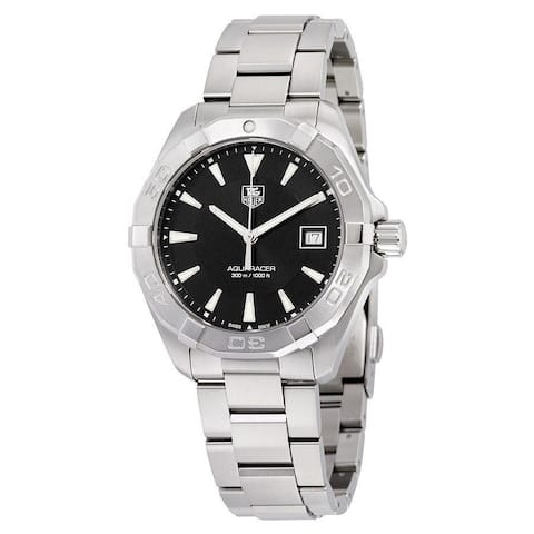 Tag Heuer Men's WAY1110.BA0928 'Aquaracer' Stainless Steel Watch - Black/Silver
