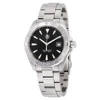 Tag Heuer Men's WAY1110.BA0928 'Aquaracer' Stainless Steel Watch - Black/Silver