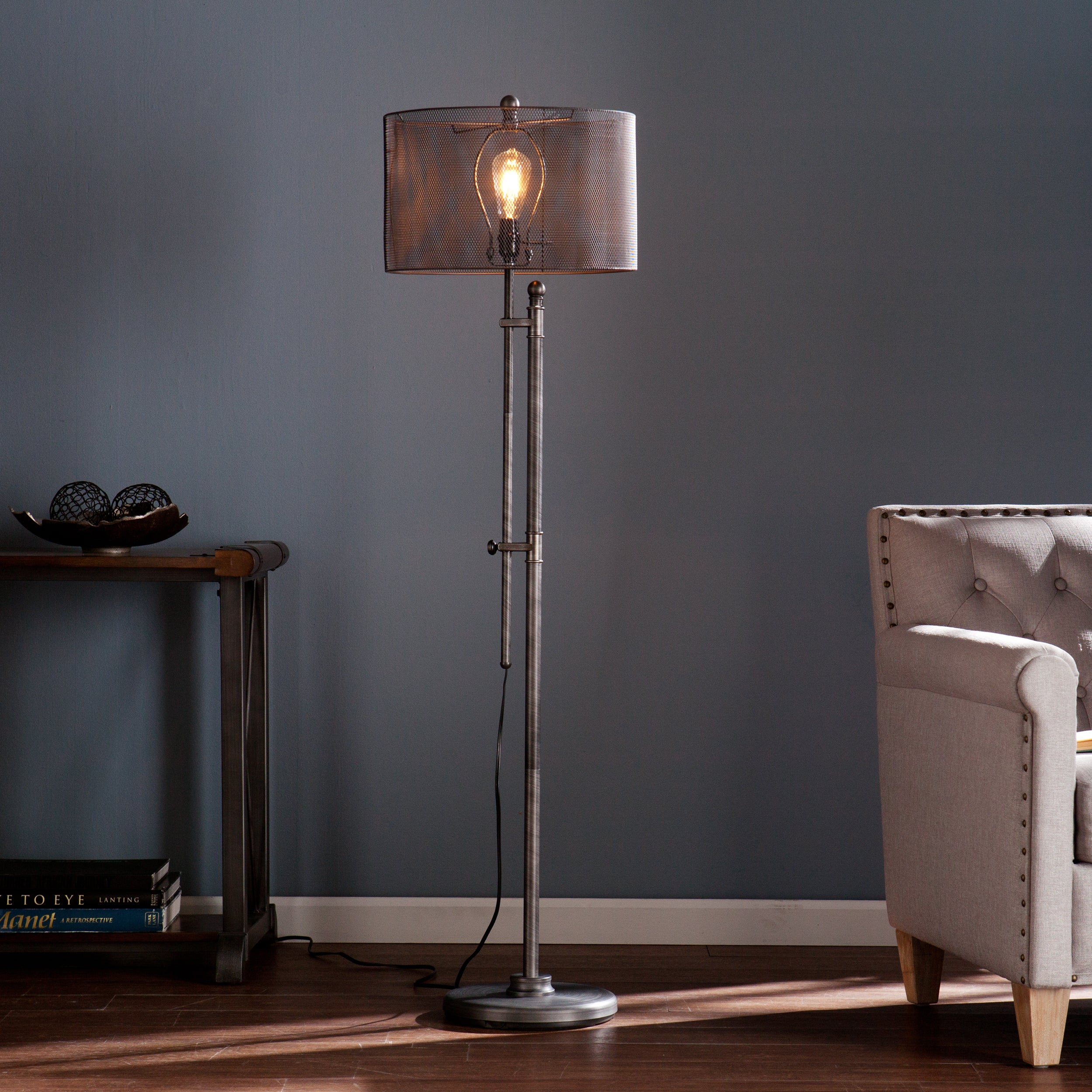 Adjustable Modern Floor Lamp Industrial Style LED Metal Finish ...