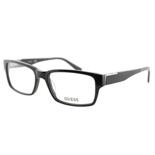 Guess GU 1775 BLK Black Plastic Rectangle 54mm Eyeglasses