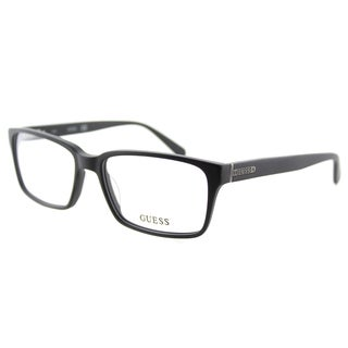 Guess GU 1843 BLK Black Plastic Rectangle 55mm Eyeglasses