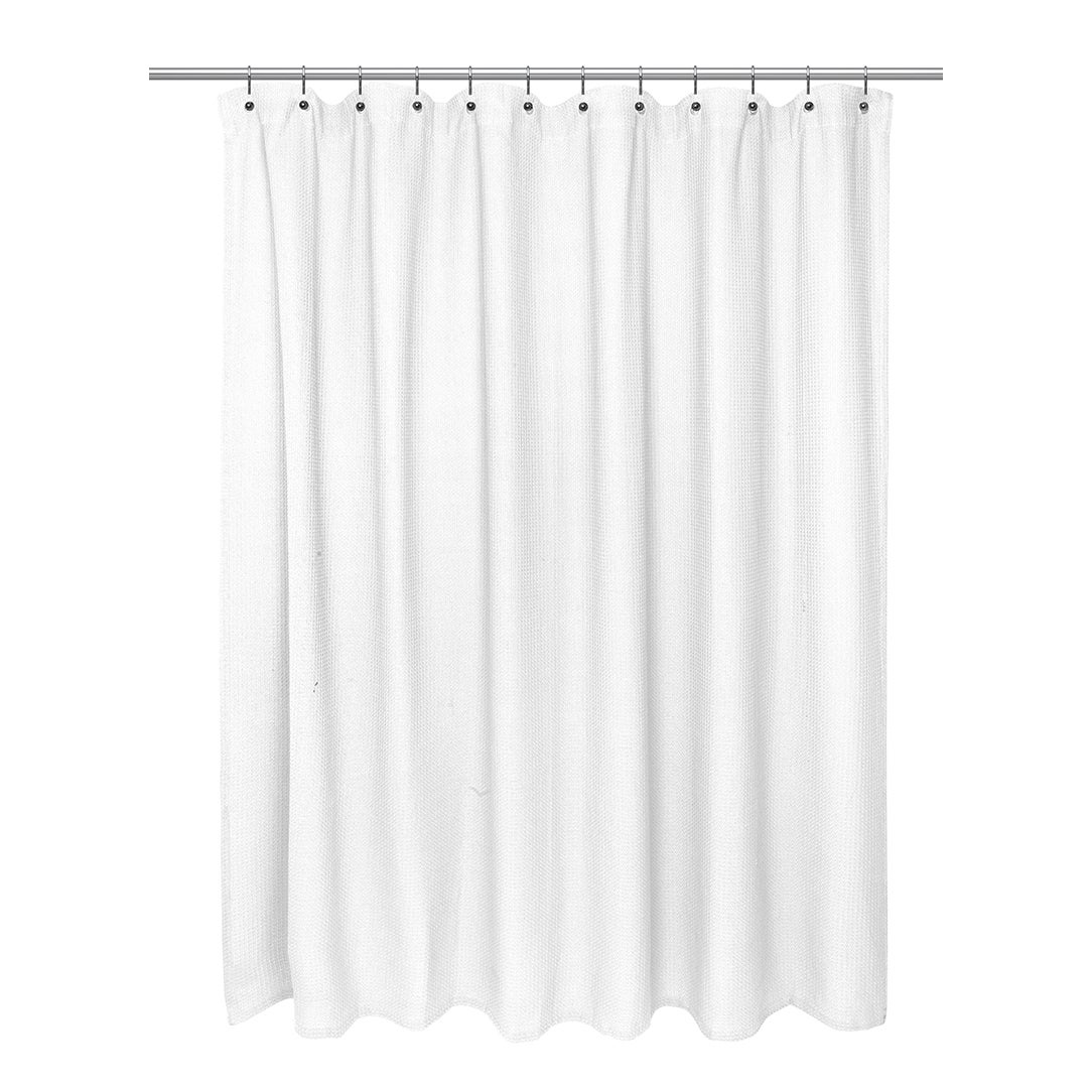 Cotton Waffle Weave Shower Curtain 72 X 72