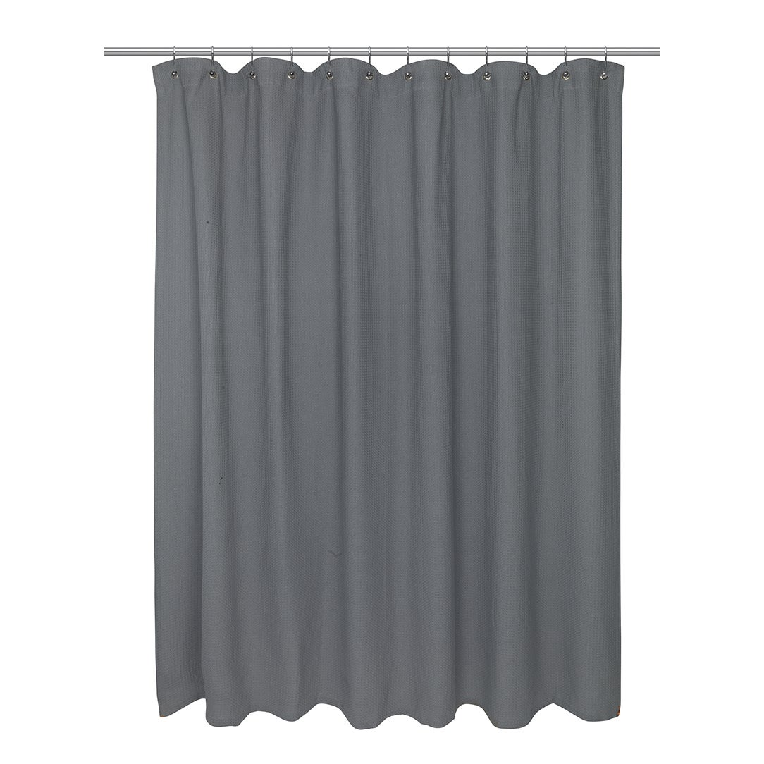 Cotton Waffle Weave Shower Curtain 72 X