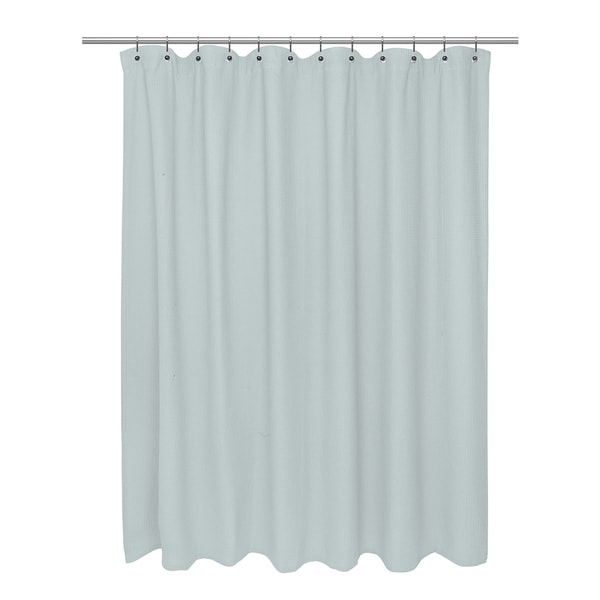 Cotton Waffle Weave Shower Curtain