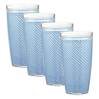 Kraftware Fishnet 22-ounce Serenity Doublewall Drinkware (Set of 4)