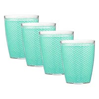 Kraftware Fishnet 14-ounce Limpet Shell Doublewall Drinkware (Set of 4)