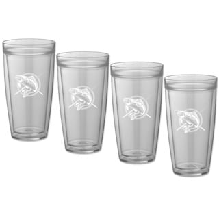 Kasualware 22-ounce Doublewall Tall Drink Fishin' (Set of 4)