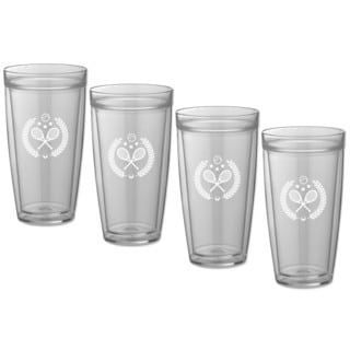 Kasualware 22-ounce Doublewall Tall Drink Tennis (Set of 4)