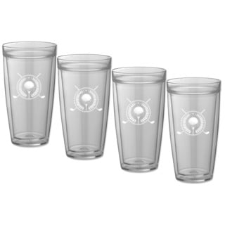 Kasualware 22-ounce Doublewall Tall Drink Golf (Set of 4)