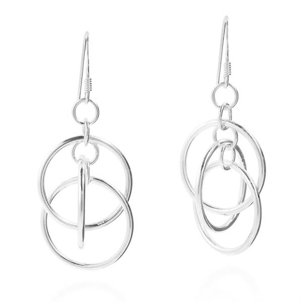 51d500208 Shop Handmade Shiny Triple Mobile Circles Sterling Silver Dangle Earrings  (Thailand) - On Sale - Free Shipping On Orders Over $45 - Overstock -  11677598