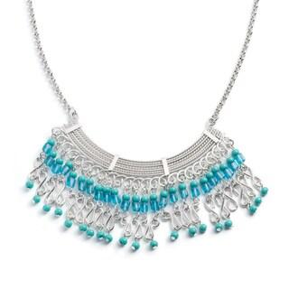 Handmade Maharani Blue Moon Beaded Necklace (India)