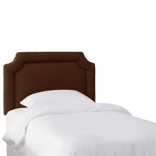 Skyline Furniture Kids Chocolate Notched LInen Headboard