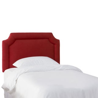 Skyline Furniture Kids Antique Red Linen Notched Headboard