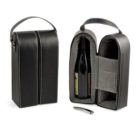 Leather Wine Caddy (As Is Item)