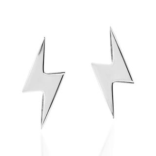 Handmade Striking Little Lightning Thunder .925 Silver Stud Earrings (Thailand)