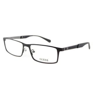 Guess GU 1860 009 Matte Brown Metal Rectangle 54mm Eyeglasses