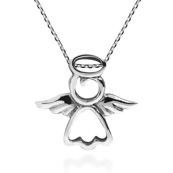 Shop Handmade Guardian Angel Of Protection Sterling Silver Necklace