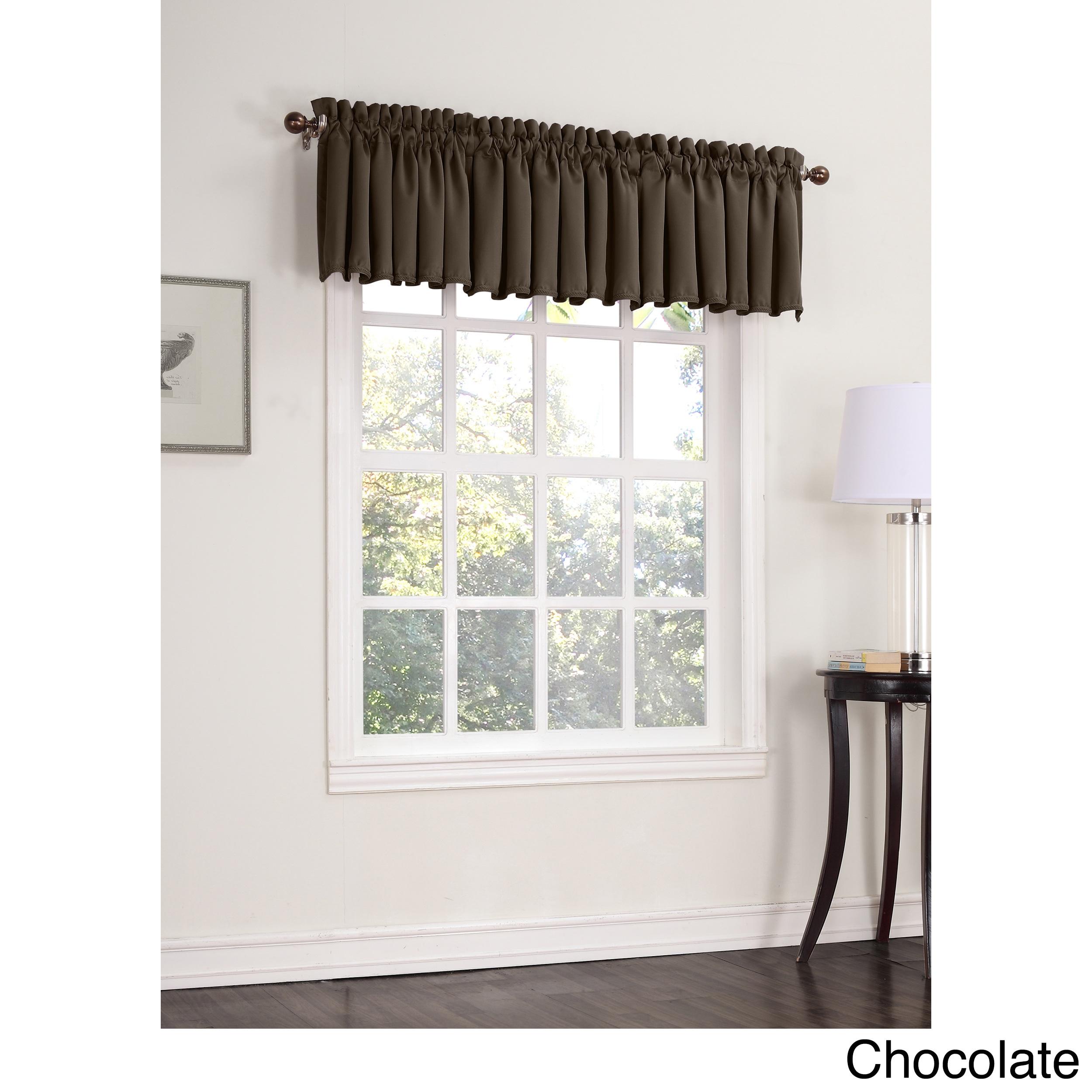 Sun Zero Galia Room Darkening Window Valance (Chocolate 1...