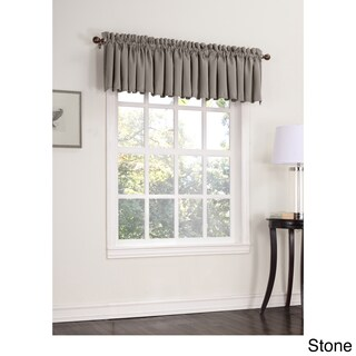 Laurel Creek Mendocino Room Darkening Window Valance - 54 x 18 (Option: stone)