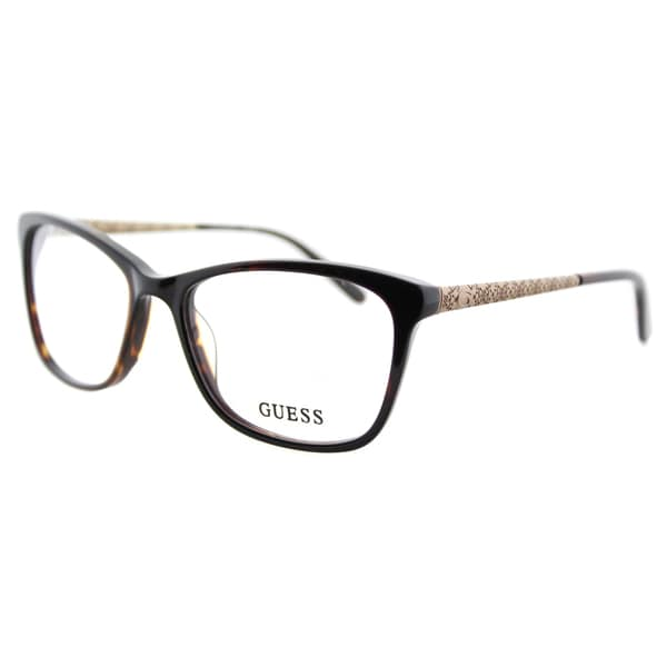 0963e780498af Shop Guess GU 2500 052 Dark Havana Plastic Square 53mm Eyeglasses ...