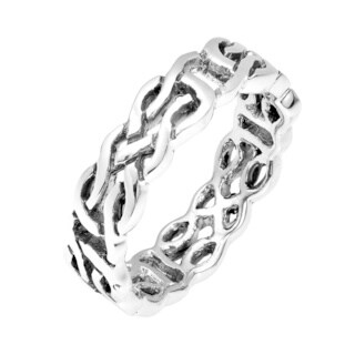 Handmade Majestic Celtic Knot Band .925 Sterling Silver Ring (Thailand)