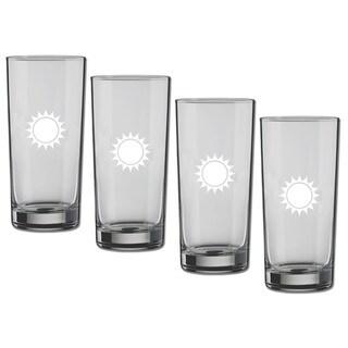 Kasualware 16-ounce Glass Highball Sunshine (Set of 4)