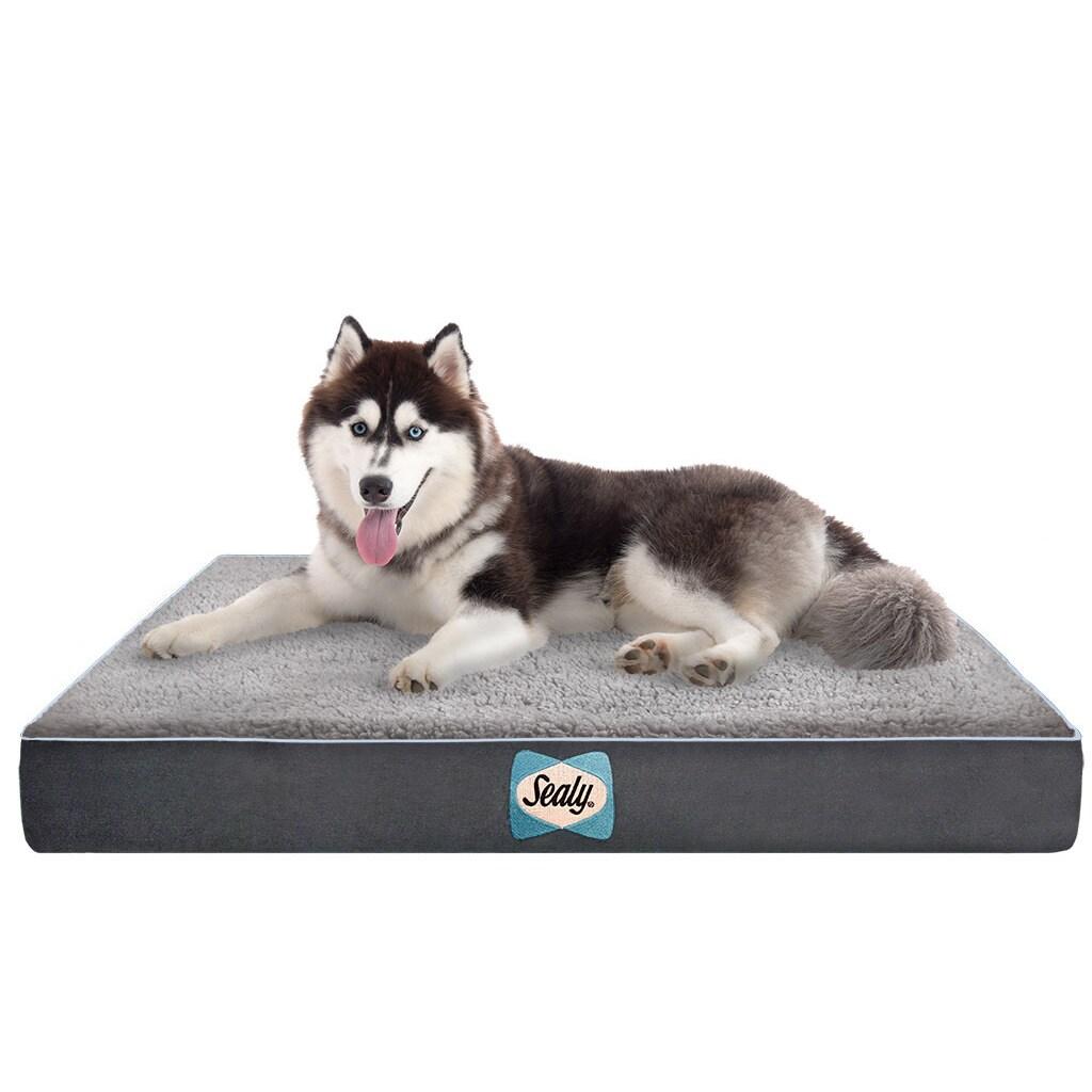 Sealy Supreme Sherpa Quad Layer Orthopedic Dog Bed (Moder...