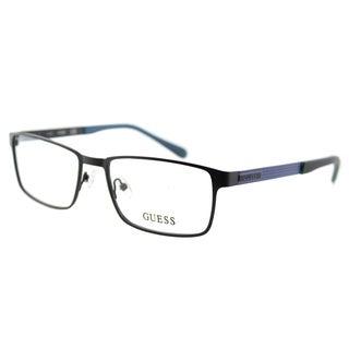 Guess GU 1884 002 Matte Black Metal Rectangle 55mm Eyeglasses