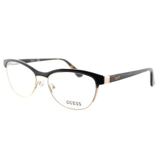 Guess GU 2523 001 Black And Gold Plastic Cat-Eye 52mm Eyeglasses