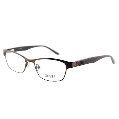 f55f532f49 Guess GU 2420 049 Matte Dark Brown Metal Cat-Eye 50mm Eyeglasses