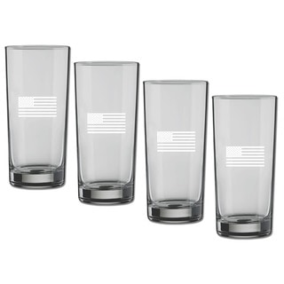 Kasualware 16-ounce Glass Highball U.S.A.(Set of 4)