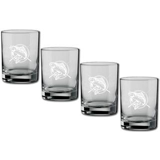 Kasualware 14-ounce Glass DOF Fishin' (Set of 4)
