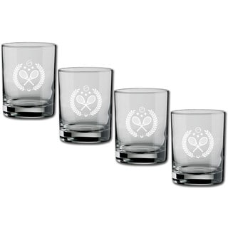 Kasualware 14-ounce Glass DOF Tennis (Set of 4)