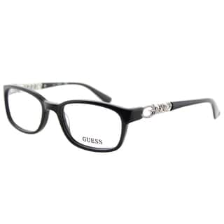 Guess GU 2558 005 Black Plastic Rectangle 51mm Eyeglasses