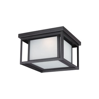 Sea Gull Hunnington LED Light Black Outdoor Fixture